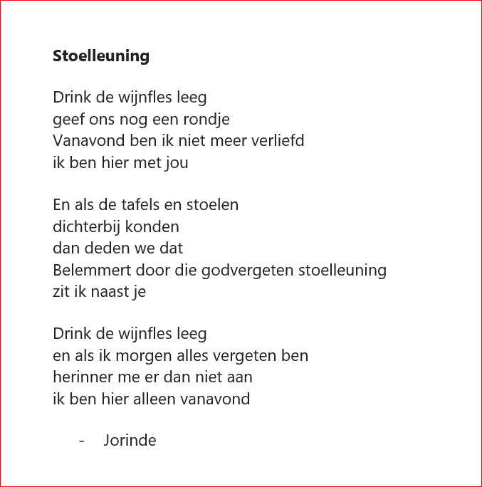 Poetry Diary Stoelleuning The Chaos That Controls My Mind